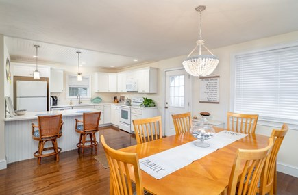 Dennis Port Cape Cod vacation rental - Open kitchen with breakfast bar to dining room