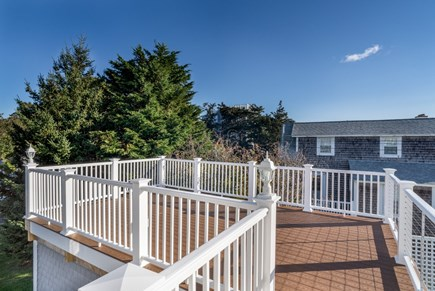 Dennis Port Cape Cod vacation rental - Roof top deck from second level. New deck furniture in the Spring
