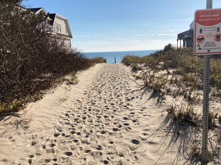 Dennis Port Cape Cod vacation rental - Path directly in front of house, Depot St beach, Dennis Port
