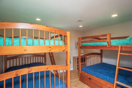 Eastham Cape Cod vacation rental - Bedroom #4 provides two bunk full size bunk beds