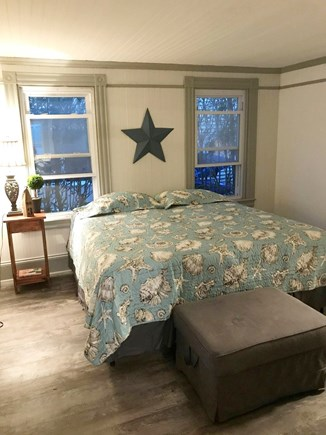 Onset MA vacation rental - King sized master bedroom on entry level with ensuite bathroom.