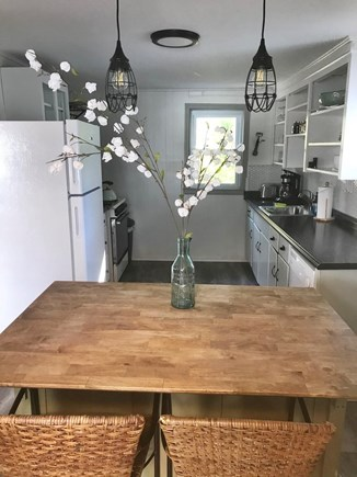 Onset MA vacation rental - Island perfect for breakfast or meal prep overlooking living area