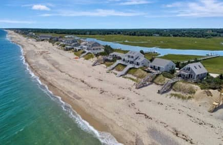 East Sandwich Cape Cod vacation rental - Beautiful private beach off the deck