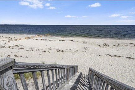 East Sandwich Cape Cod vacation rental - Steps to the beach from the deck