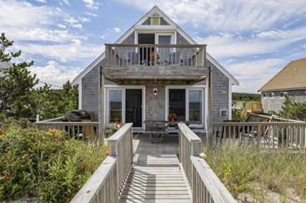 East Sandwich Cape Cod vacation rental - Large deck for capturing amazing sunsets and view of Caps Cod Bay