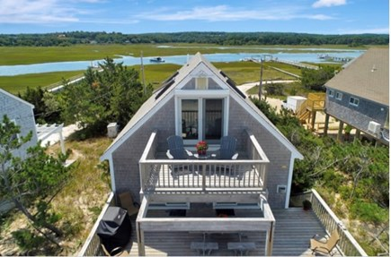 East Sandwich Cape Cod vacation rental - 3rd floor private deck off the master bedroom