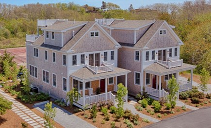 Provincetown Cape Cod vacation rental - Townhomes, both available, overlook tennis court, home on right