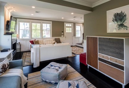 Provincetown Cape Cod vacation rental - Sitting room looking into living room