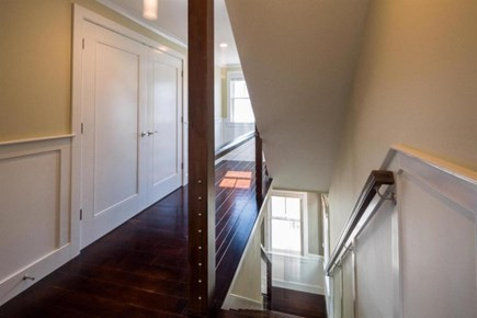 Provincetown Cape Cod vacation rental - Modern staircase connects 3 levels