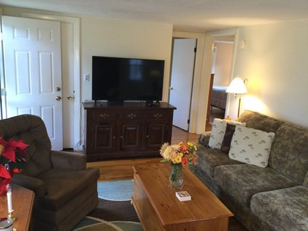 Harwich Center Cape Cod vacation rental - Living room with TV