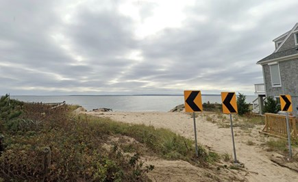 Falmouth Cape Cod vacation rental - Public beach area at the end of Maravista Ave (5 min walk!)