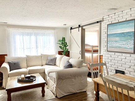 Falmouth Cape Cod vacation rental - Living room and entrance to the bunk room