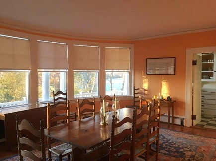 Woods Hole, Quissett Harbor Woods Hole vacation rental - You'll gather in the dining room after a day of fun.