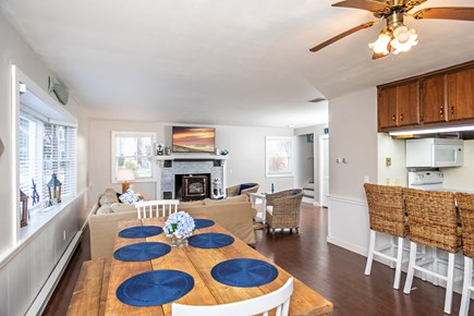 Dennis, Mayflower Beach Cape Cod vacation rental - Dining room table with seating for 8-10