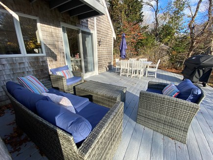 Osterville Cape Cod vacation rental - Large deck with private yard that is great for entertaining