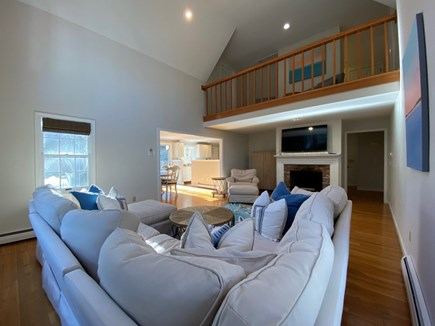Osterville Cape Cod vacation rental - Comfortable seating for any size group with a balcony above