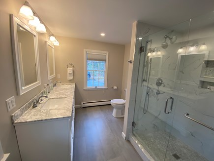 Osterville Cape Cod vacation rental - New Master Bath with dual shower heads and grab bars