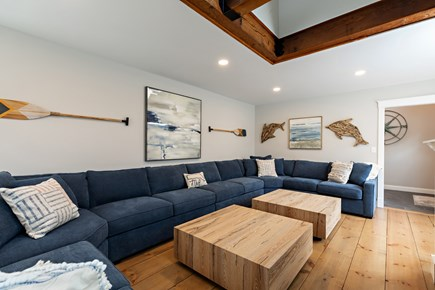 Dennis Village-Mayflower Beach Cape Cod vacation rental - Huge den with seating for 12+