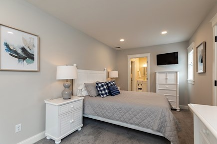 Dennis Village-Mayflower Beach Cape Cod vacation rental - Second floor bunkroom with Queen bed & double over double bunks
