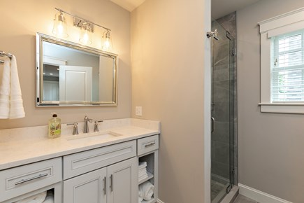 Dennis Village-Mayflower Beach Cape Cod vacation rental - Second floor bathroom with access to both bunk rooms