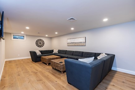 Dennis Village-Mayflower Beach Cape Cod vacation rental - Basement Movie room with seats for 12+