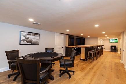 Dennis Village-Mayflower Beach Cape Cod vacation rental - Basement poker table, bar & full bathroom