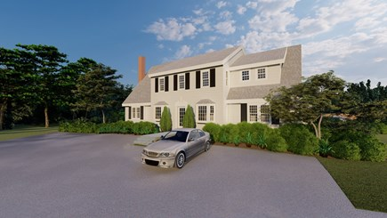 Dennis Village-Mayflower Beach Cape Cod vacation rental - Front rendering of house