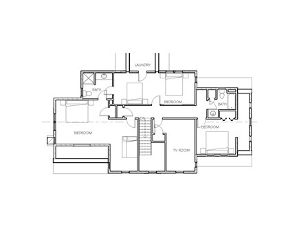 Dennis Village-Mayflower Beach Cape Cod vacation rental - Second floor plan. Additional photos coming soon!
