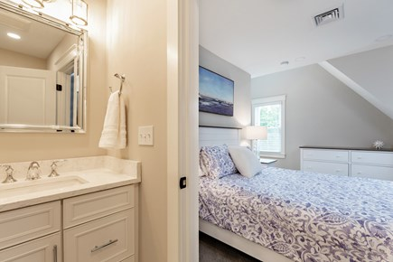 Dennis Village-Mayflower Beach Cape Cod vacation rental - Master suite withTV & private full bathroom
