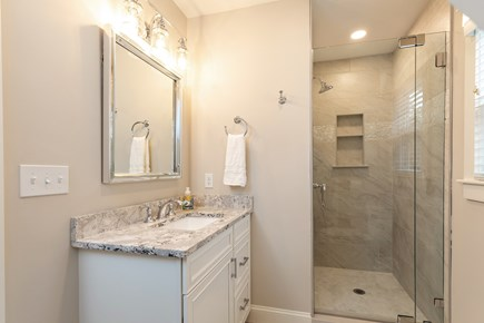 Dennis Village-Mayflower Beach Cape Cod vacation rental - Beautiful private bathroom off bunkroom