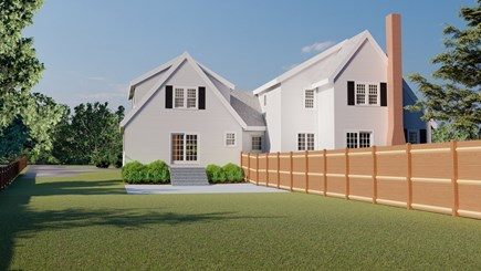 Dennis Village-Mayflower Beach Cape Cod vacation rental - Back of house rendering