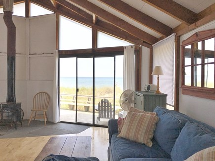 Truro Cape Cod vacation rental - Living room.  Looking west.  Waterview.