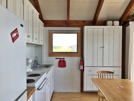 Truro Cape Cod vacation rental - Kitchen.  Looking south.  Seats 6.