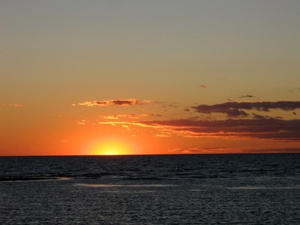 Truro Cape Cod vacation rental - A perfect sunset from your deck.
