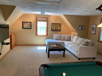 West Yarmouth (Seagull Beach) Cape Cod vacation rental - Pool/family room sectional and TV area.