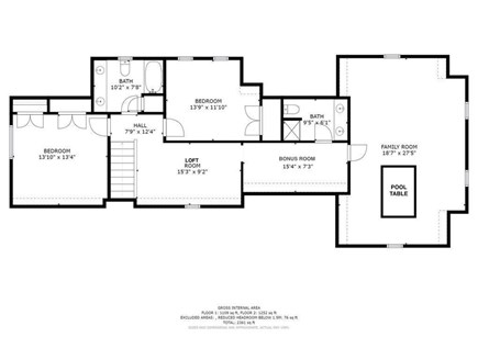 West Yarmouth (Seagull Beach) Cape Cod vacation rental - Second floor layout.