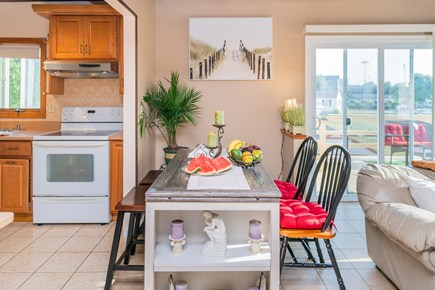 Bourne Cape Cod vacation rental - Open space kitchen to living room