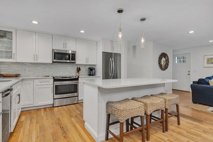 Dennis Cape Cod vacation rental - Newly renovated kitchen with open floor plan.