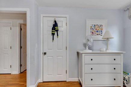 Dennis Cape Cod vacation rental - Bunk room dresser and closet.