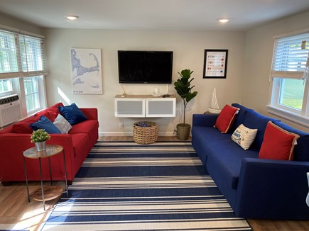 West Yarmouth Cape Cod vacation rental - Pull out couches to full size bed with desk