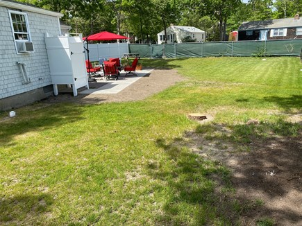 West Yarmouth Cape Cod vacation rental - Fenced-in Backyard, Patio with ample seating & An enclosed shower