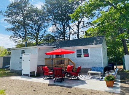 West Yarmouth Cape Cod vacation rental - Back of house, patio, outdoor shower