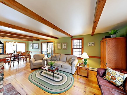 Wellfleet Cape Cod vacation rental - Living room with two sofas, a chair and an ottoman