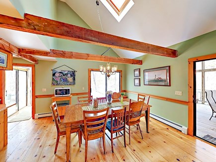Wellfleet Cape Cod vacation rental - Dining room with 8 chairs