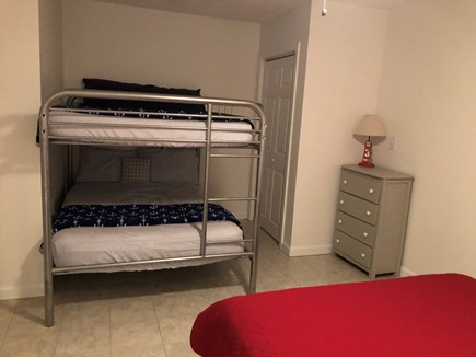Popponesset, Mashpee Cape Cod vacation rental - Bedroom #5 is great for families w Kids has a full over full bunk