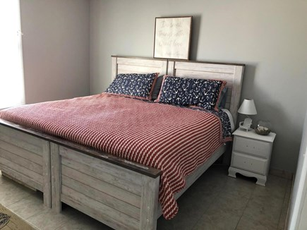 Popponesset, Mashpee Cape Cod vacation rental - First floor bedroom shown here with twins together for king bed