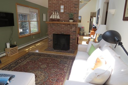 North Wellfleet  Cape Cod vacation rental - Living Room view through the house.....