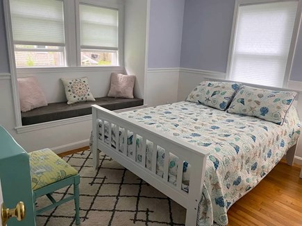 West Yarmouth Cape Cod vacation rental - Second bedroom includes full sized bed, closet, desk & nightstand