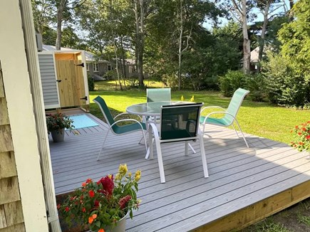 West Yarmouth Cape Cod vacation rental - Private back yard which includes brand new deck & outdoor shower