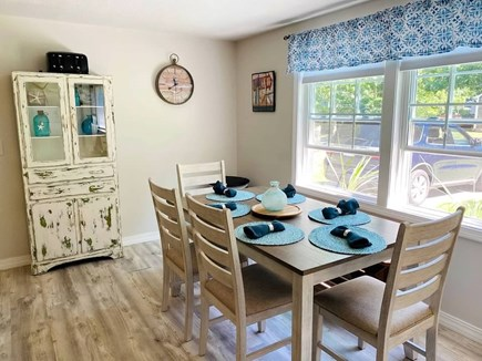 West Yarmouth Cape Cod vacation rental - Sunny and cheerful functional kitchen dining area with a view